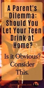 Should you let your teen drink at home?