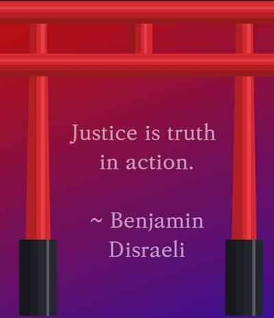 Benjamin Disraeli Justice quote