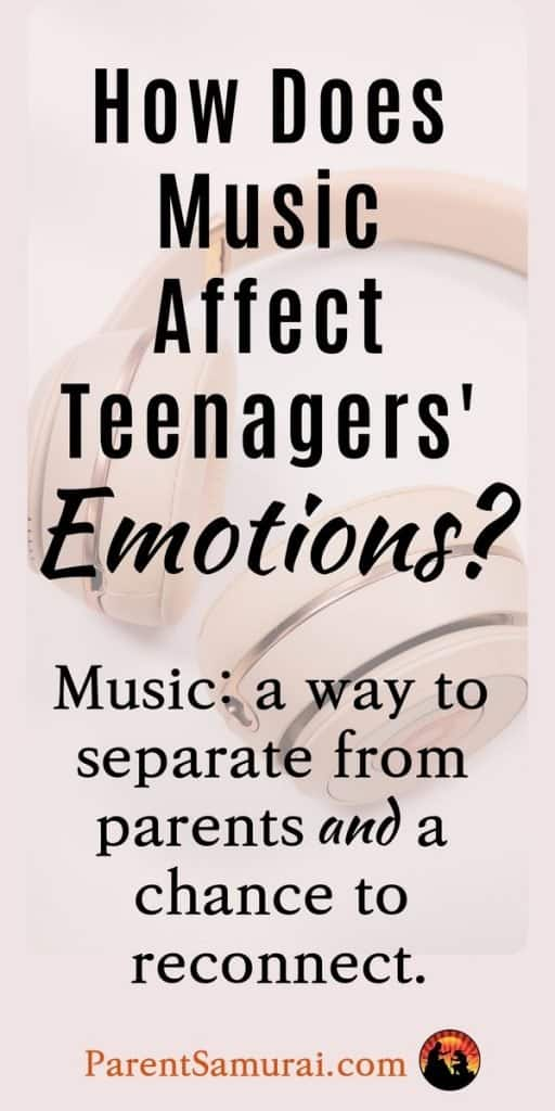 How does music affect teenage emotions