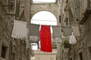 laundry hanging on a line in Venice